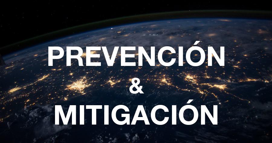 Prevención y mitigación de desastres